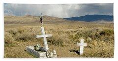 American Flag Grave Beach Towel