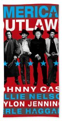 American Outlaws - The Coolest Gang Of Country Stars In Town Beach Towel