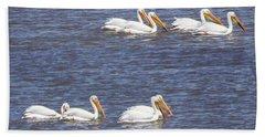 American White Pelican  Beach Towel