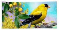 American Yellow Finch Beach Towel
