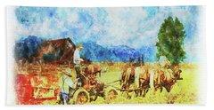 Amish Life Beach Sheet