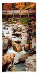 Beach Towel featuring the photograph Ammonoosuc River, Autumn by Jeff Sinon