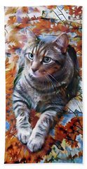 Amos In Flowers Beach Towel