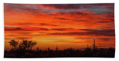 Beach Towel featuring the photograph An Arizona Sky by Rick Furmanek