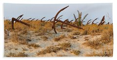 Anchors In Barril Beach Beach Towel