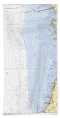 Anclote Keys To Crystal River Noaa Nautical Chart 11409 Beach Towel