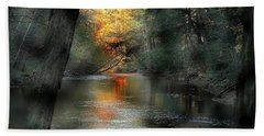 And Autumn Comes  Beach Towel