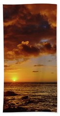 And Then The Sun Set Beach Towel