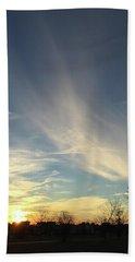 Angel Cloud Sunset Beach Sheet