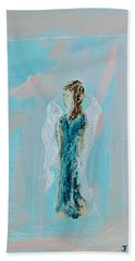 Angel With Character Beach Towel