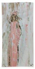 Angels In Pink Beach Towel