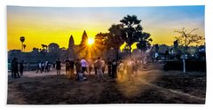 Angkor Wat At Sunrise - Siem Reap, Cambodia Beach Towel