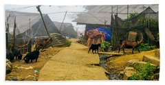 Animal Farm In Sapa, Vietnam Beach Towel