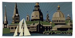 Annapolis Steeples And Cupolas Serenity Beach Towel