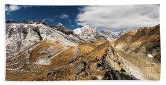 Annapurna South Peak In Nepal Beach Sheet