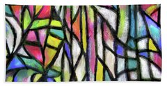 Abstract Forest Beach Towel