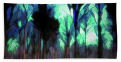 Beach Towel featuring the digital art Another World - Forest by Scott Lyons