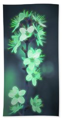 Beach Towel featuring the photograph Another World - Glowing Flowers by Scott Lyons