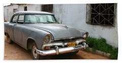 Antique Car Grey Cuba 11300501 Beach Sheet