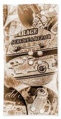 Antique Service Industry Beach Towel
