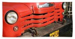 Antique Truck Red Cuba 11300502 Beach Sheet