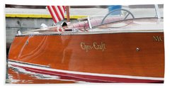 Antique Wooden Boat 1305 Beach Towel