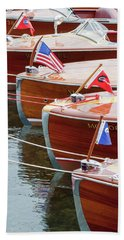 Antique Wooden Boats In A Row Portrait 1301 Beach Towel