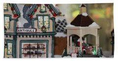 Antiques In Christmas Town Beach Towel