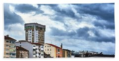 Beach Towel featuring the photograph Apartment Buildings In Ourense by Eduardo Accorinti