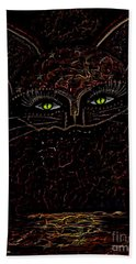 Appearance Of The Mystic Cat Beach Towel