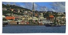 Beach Towel featuring the photograph Approaching Fort De France by Tony Murtagh