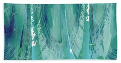 Aqua Abstract Flow Beach Towel