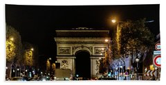 Beach Towel featuring the photograph Arc De Triomphe by Randy Scherkenbach