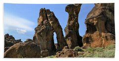 Arches Hoodoos Castles Beach Towel