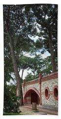 Architecture At The Gardens Of Cecilio Rodriguez In Retiro Park - Madrid, Spain Beach Towel