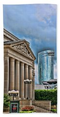 Architecture Then And Now - Nashville Beach Towel