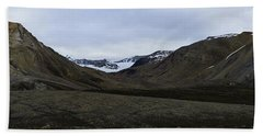 Arctic Mountain Landscape Beach Sheet