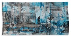 Beach Towel featuring the painting Arctic by 'REA' Gallery