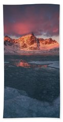 Arctic Winter Light Beach Towel