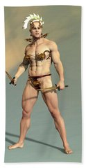 Ares-mars God Of War.jpg Beach Towel