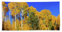 Arizona Aspens And Blowing Leaves Beach Sheet