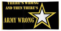 Army Wrong Beach Towel