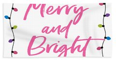 Merry And Bright -art By Linda Woods Beach Towel