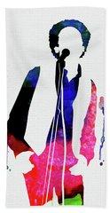 Art Garfunkel Watercolor Beach Towel