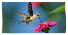 Art Of Hummingbird Flight Beach Towel