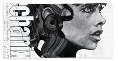arteMECHANIX 1905 HUDSON GRUNGE Beach Towel