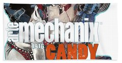 arteMECHANIX 1916 CANDY GOES TO WAR  GRUNGE Beach Towel