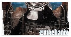 arteMECHANIX 1918 DAVINCI DOOMSDAY DEVICE  GRUNGE Beach Towel