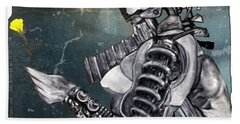 arteMECHANIX 1930 The FROZEN YARD GRUNGE Beach Towel