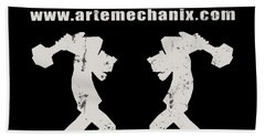 arteMECHANIX OFFICIAL LOGO  GRUNGE Beach Towel